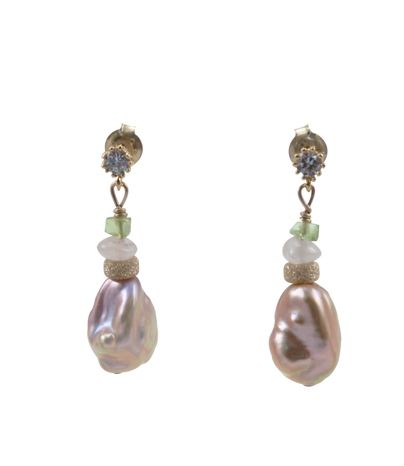 designer pearl keshi pink pearls peridot earrings and jo product web quartz